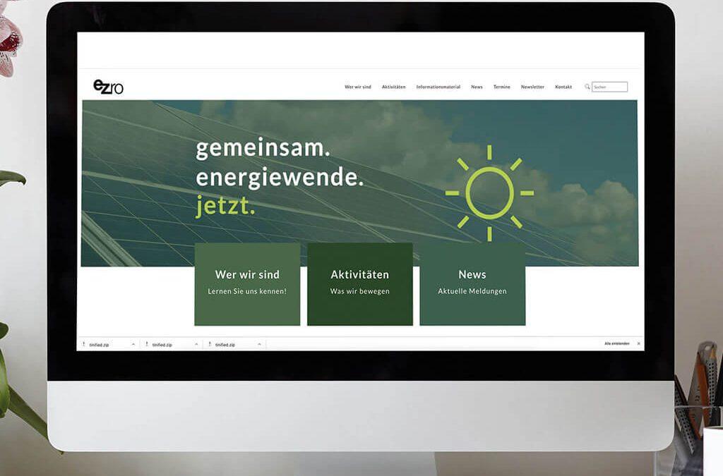 SKRUFF Designagentur Werbeagentur Rosenheim Projekte Webdesign ezro Website Homepage