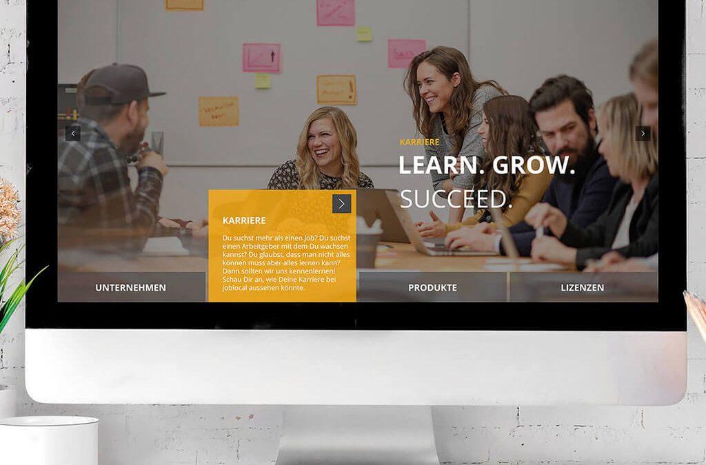 SKRUFF Designagentur Werbeagentur Rosenheim Projekte Webdesign Interaktiv joblocal Website Homepage