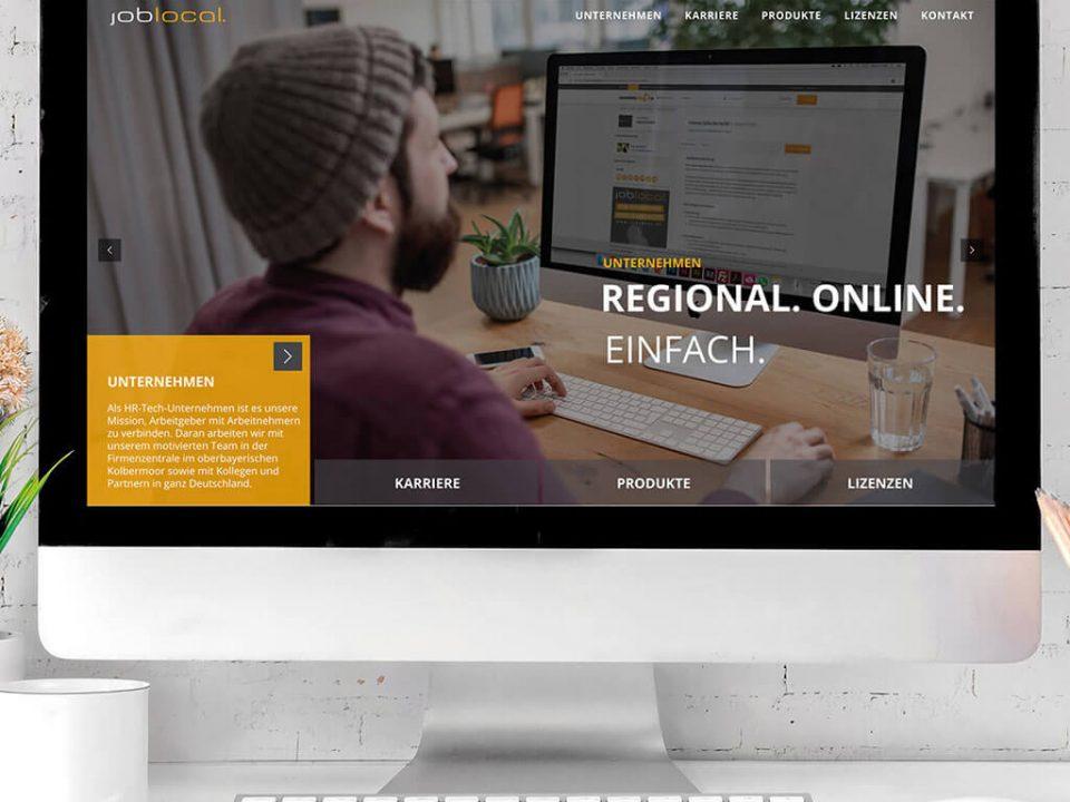 SKRUFF Designagentur Werbeagentur Rosenheim Projekte Webdesign joblocal Website Homepage