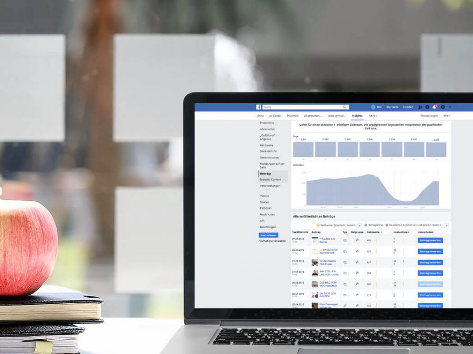 SKRUFF Designagentur Werbeagentur Rosenheim Projekte Social Media Facebook Analytics Auswertung
