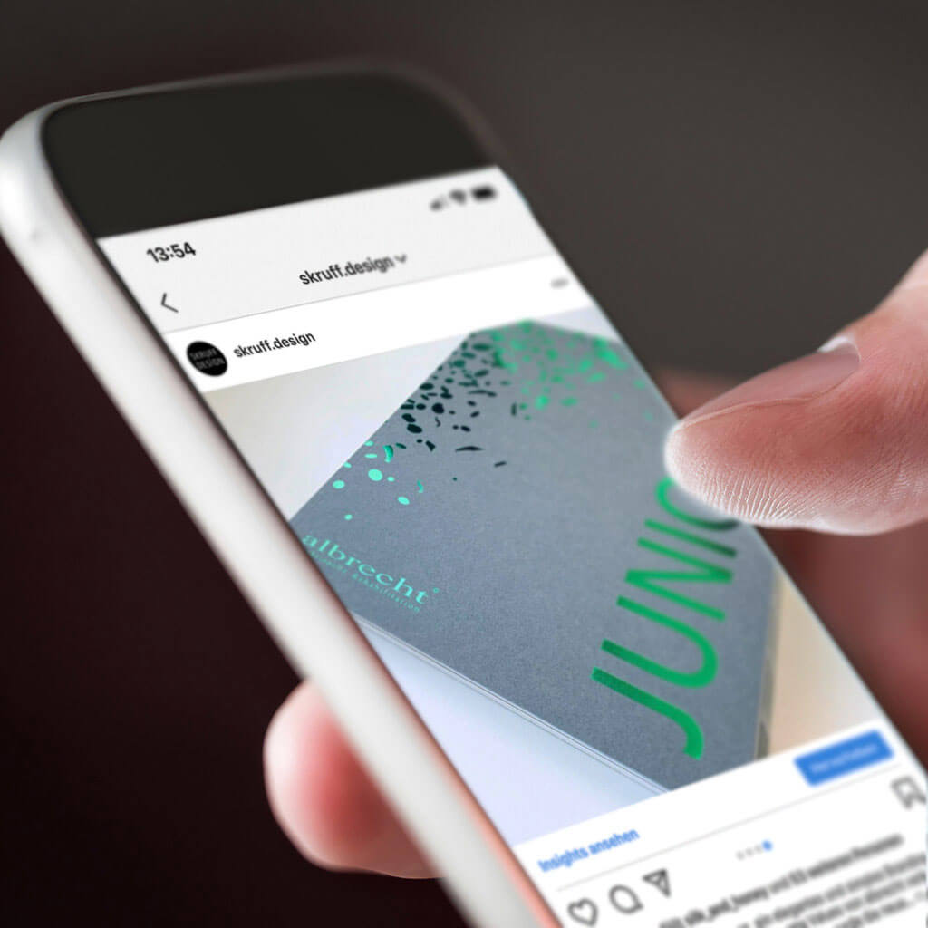 SKRUFF Designagentur Werbeagentur Rosenheim Projekte Social Media Instagram Albrecht Post