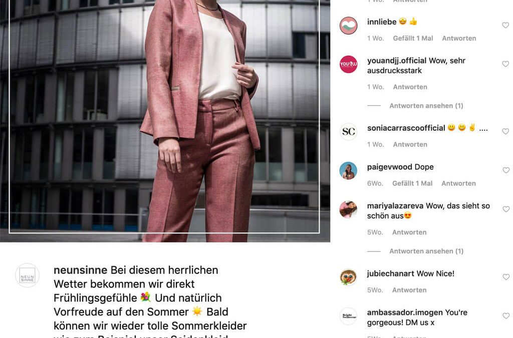 SKRUFF Designagentur Werbeagentur Rosenheim Projekte Social Media Instagram Werbung Post Neun Sinne