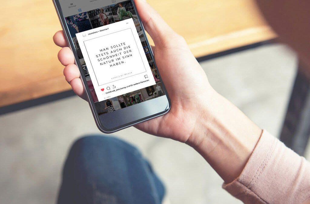 SKRUFF Designagentur Werbeagentur Rosenheim Projekte Social Media Instagram Post Neun Sinne