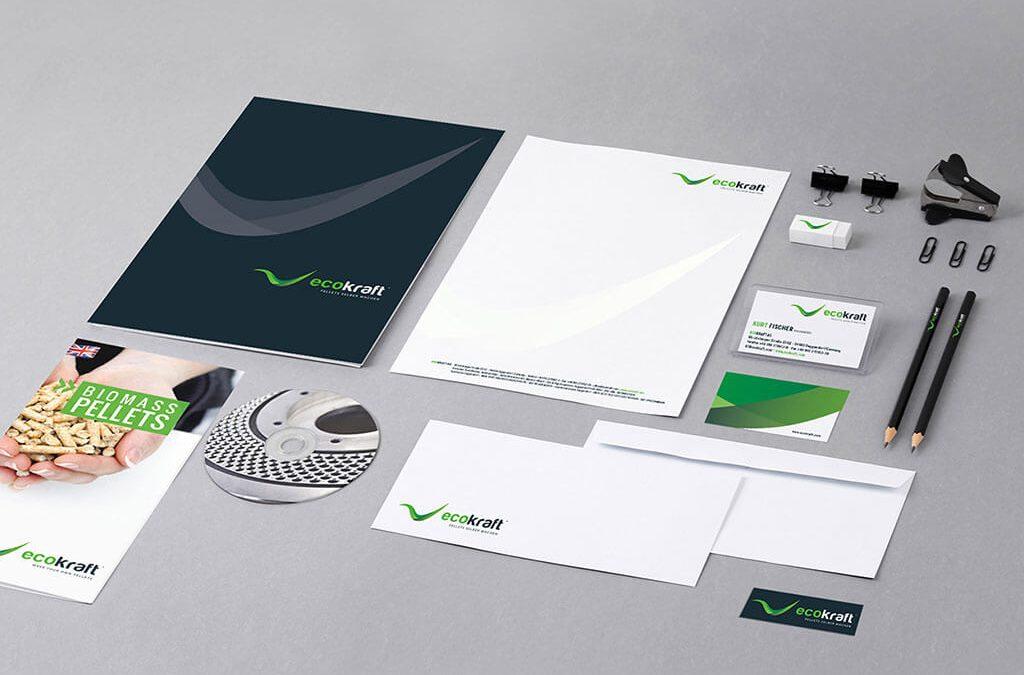 SKRUFF Designagentur Werbeagentur Rosenheim Projekte Corporate Design Ecokraft Stifte Bürozubehör CD