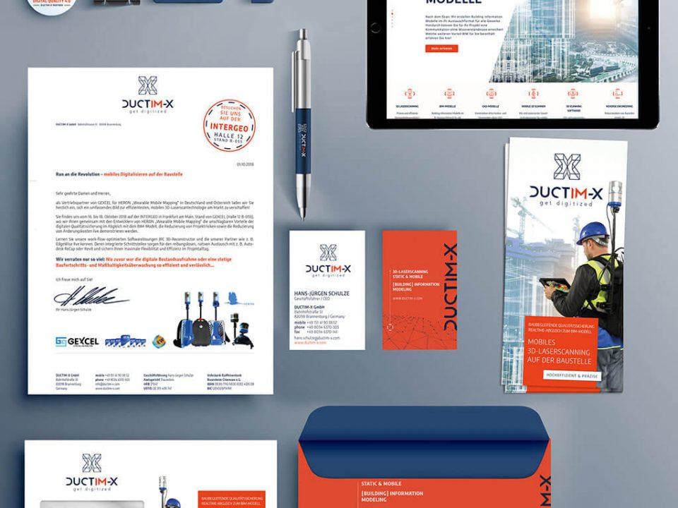 SKRUFF Designagentur Werbeagentur Rosenheim Projekte Corporate Design Juctim-X Allround Design Website Homepage Visitenkarten Business Cards Briefumschlag