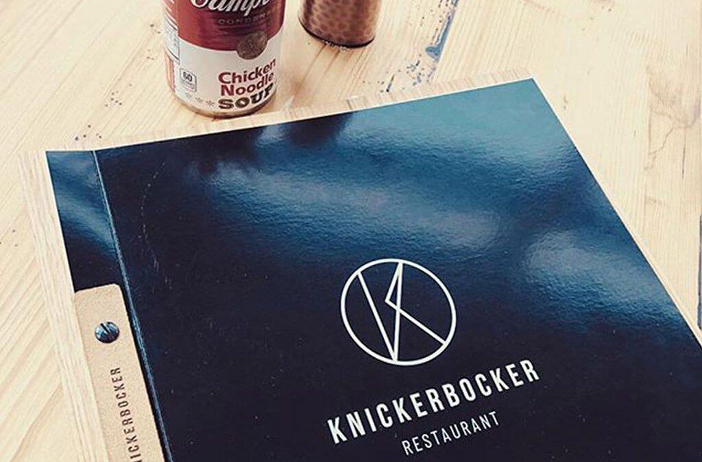 SKRUFF Designagentur Werbeagentur Rosenheim Projekte Print Design Menü Knickerbocker Design