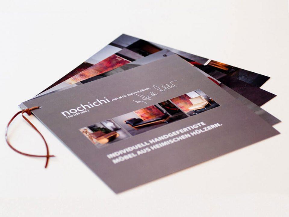 SKRUFF Designagentur Werbeagentur Rosenheim Projekte Print Design Broschüre nochichi