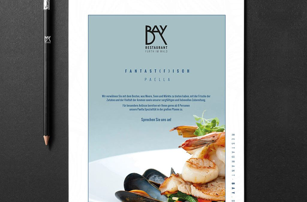 SKRUFF Designagentur Werbeagentur Rosenheim Projekte Print Design Flyer Restaurant Bay