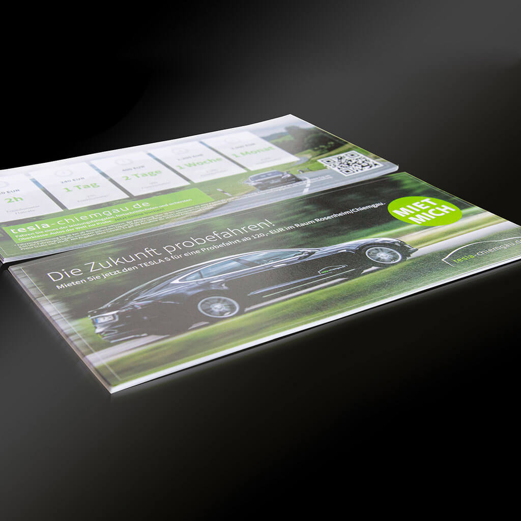 SKRUFF Designagentur Werbeagentur Rosenheim Projekte Print Design Broschüre Katalog Tesla Chiemgau