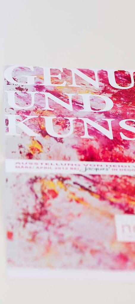 SKRUFF Designagentur Werbeagentur Rosenheim Projekte Print Design Visitenkarte Genuss und Kunst