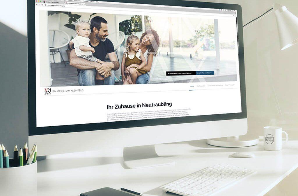 SKRUFF Designagentur Werbeagentur Rosenheim Projekte Webdesign Website Neubau Baugebiet