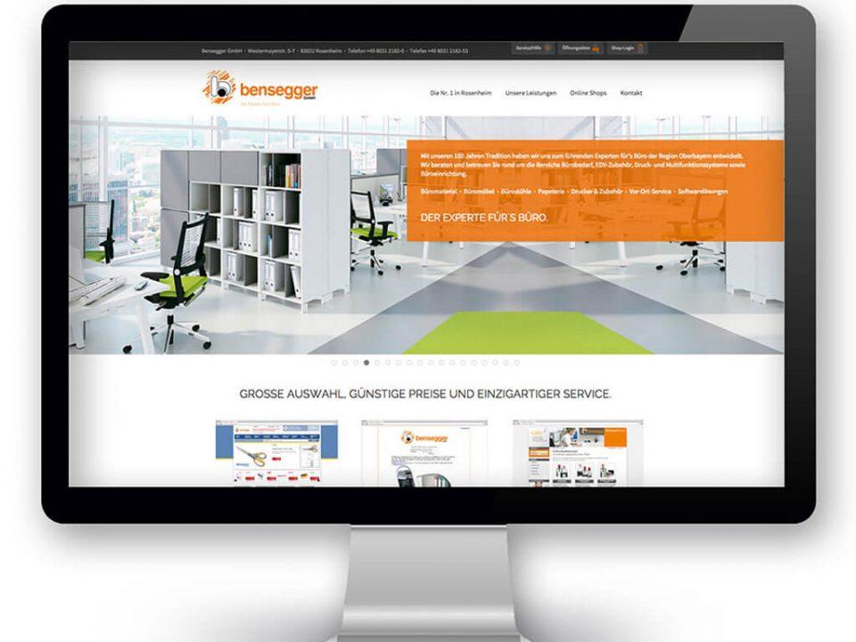 SKRUFF Designagentur Werbeagentur Rosenheim Projekte Webdesign Website Bensegger