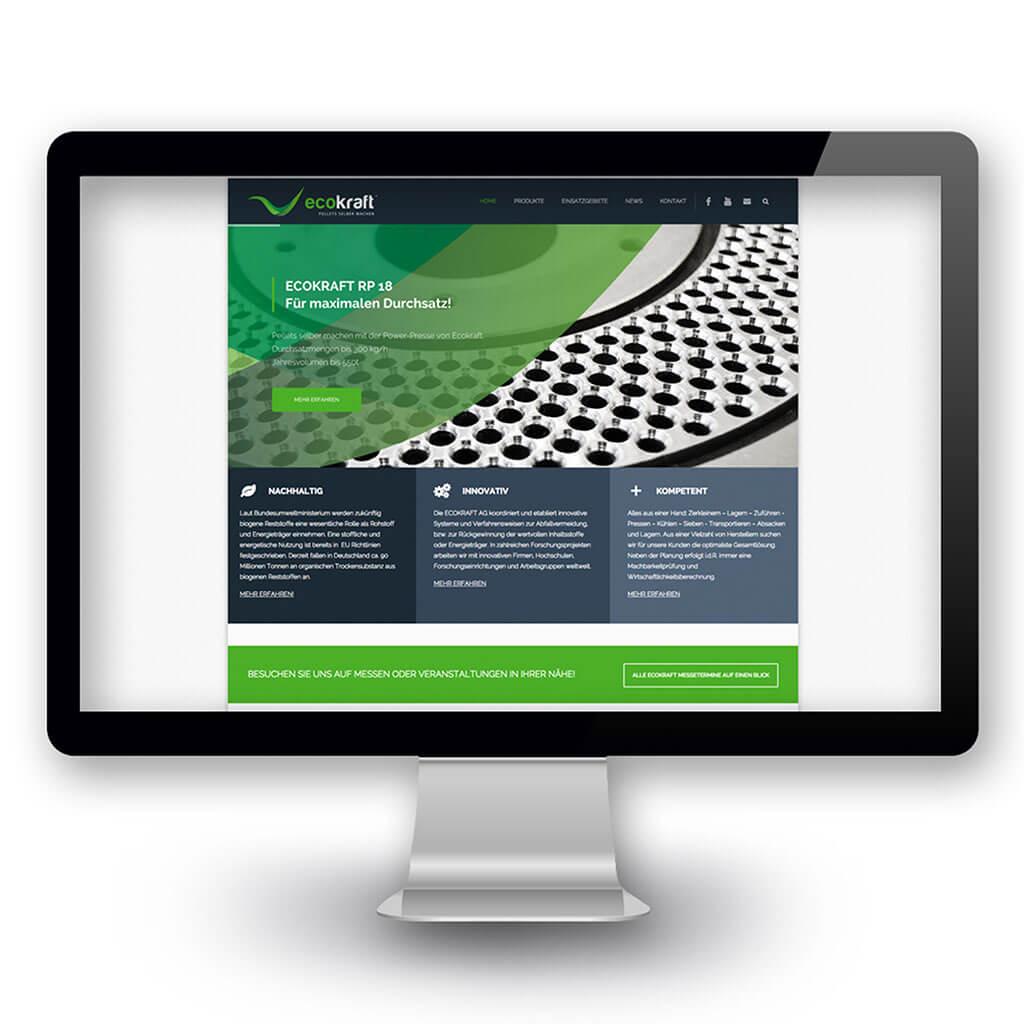 SKRUFF Designagentur Werbeagentur Rosenheim Projekte Webdesign Ecokraft Website