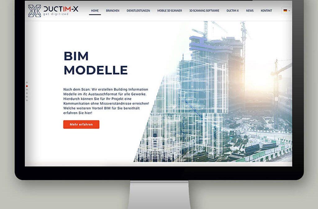 SKRUFF Designagentur Werbeagentur Rosenheim Projekte Webdesign Ductim-X Website