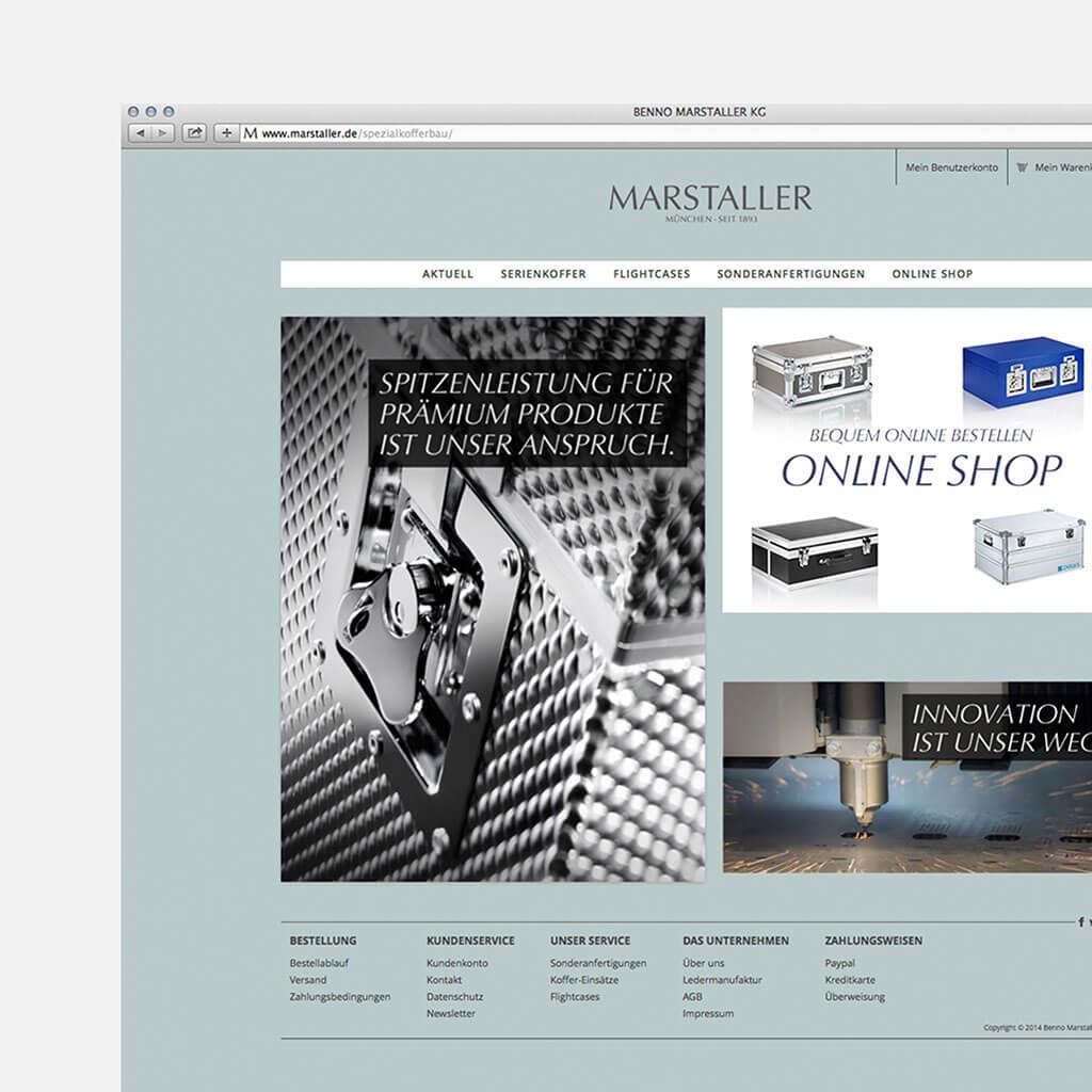 SKRUFF Designagentur Werbeagentur Rosenheim Projekte Webdesign Marstaller Onlineshop