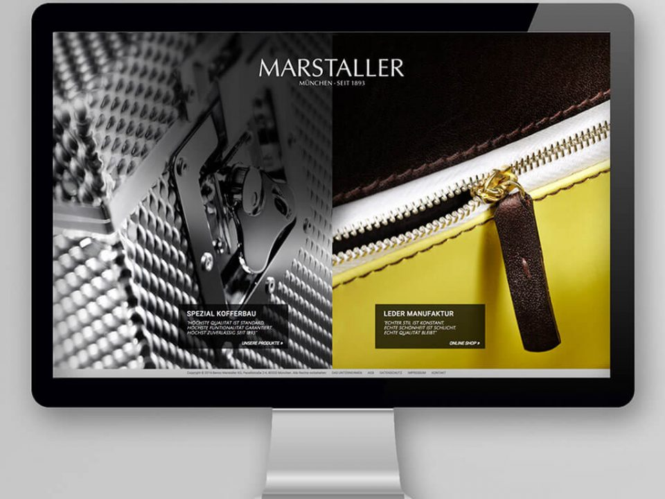 SKRUFF Designagentur Werbeagentur Rosenheim Projekte Webdesign Marstaller Website Homepage
