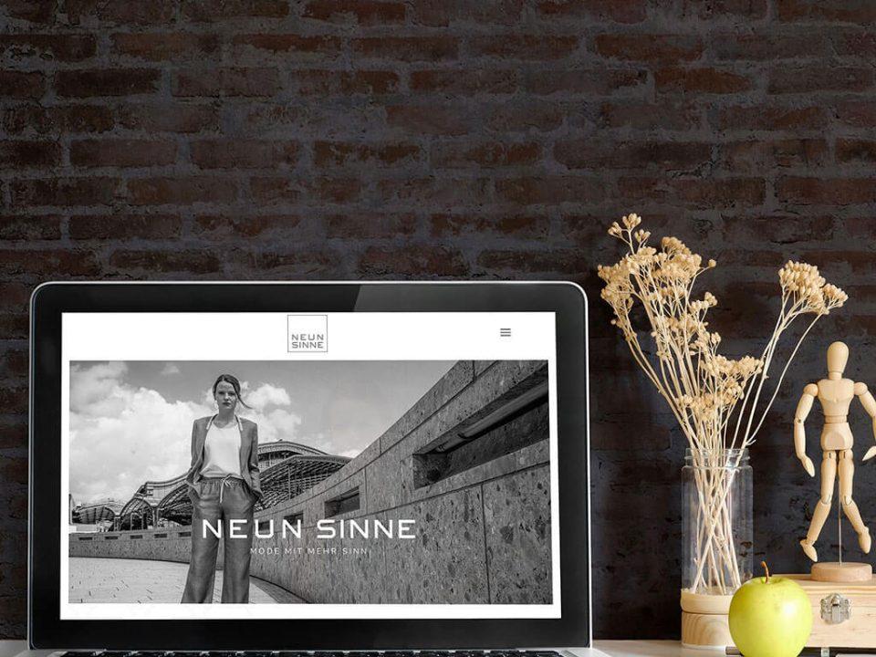 SKRUFF Designagentur Werbeagentur Rosenheim Projekte Webdesign Homagepage Neun Sinne