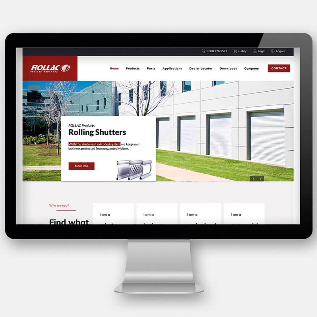 SKRUFF Designagentur Werbeagentur Rosenheim Projekte Webdesign Rollac Homepage Website