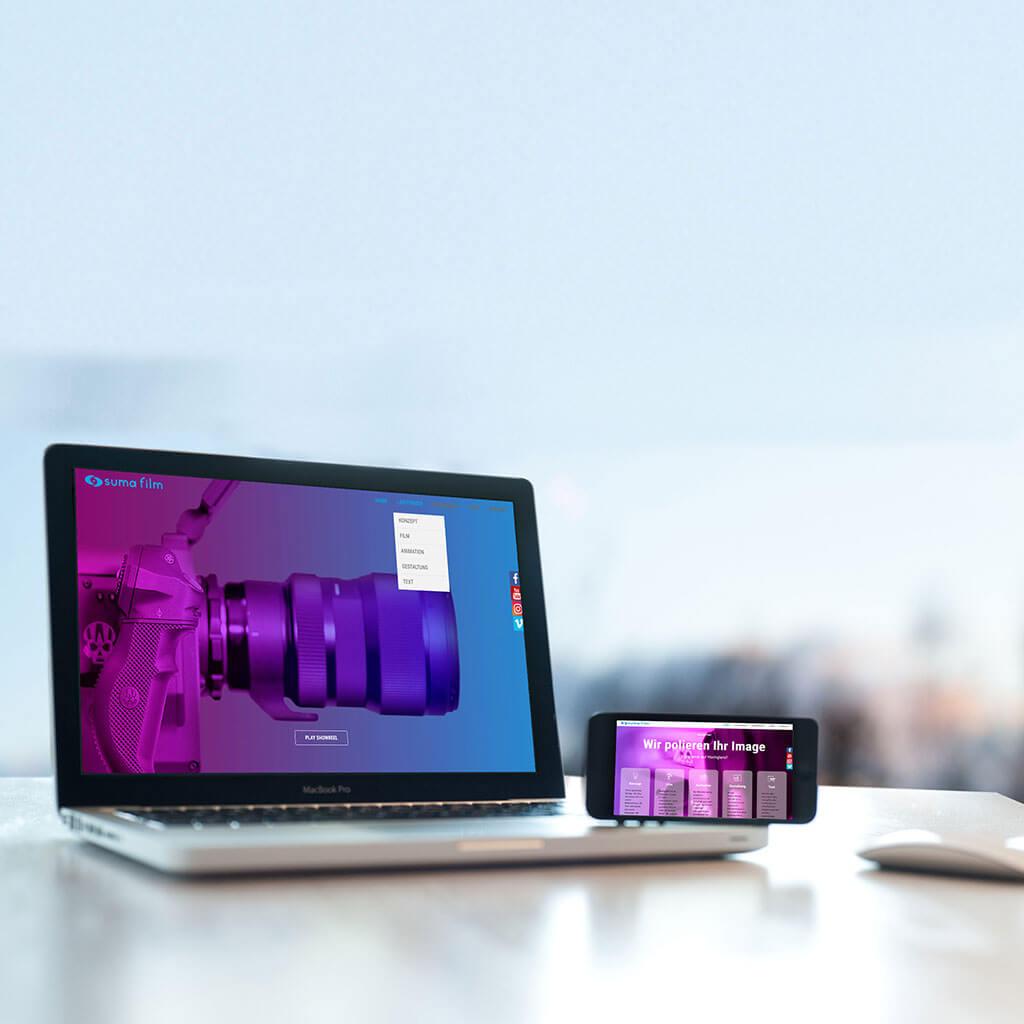 SKRUFF Designagentur Werbeagentur Rosenheim Projekte Webdesign Suma film Website