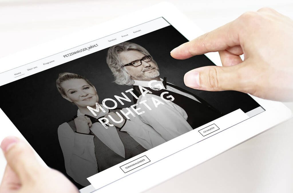 SKRUFF Designagentur Werbeagentur Rosenheim Projekte Webdesign Petzenhauser & Waehlt Tabletansicht responsive