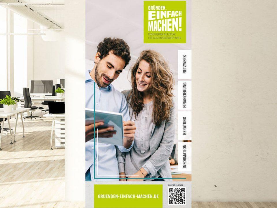 SKRUFF Designagentur Werbeagentur Rosenheim Projekte Printdesign Roll Up Design Gruenden Einfach Machen